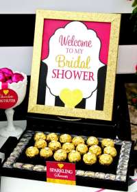 Modern Black and White Striped Bridal Shower - Bridal ...