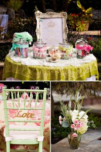 Outdoor Vintage Lace Tea Party Bridal Shower - Bridal ...