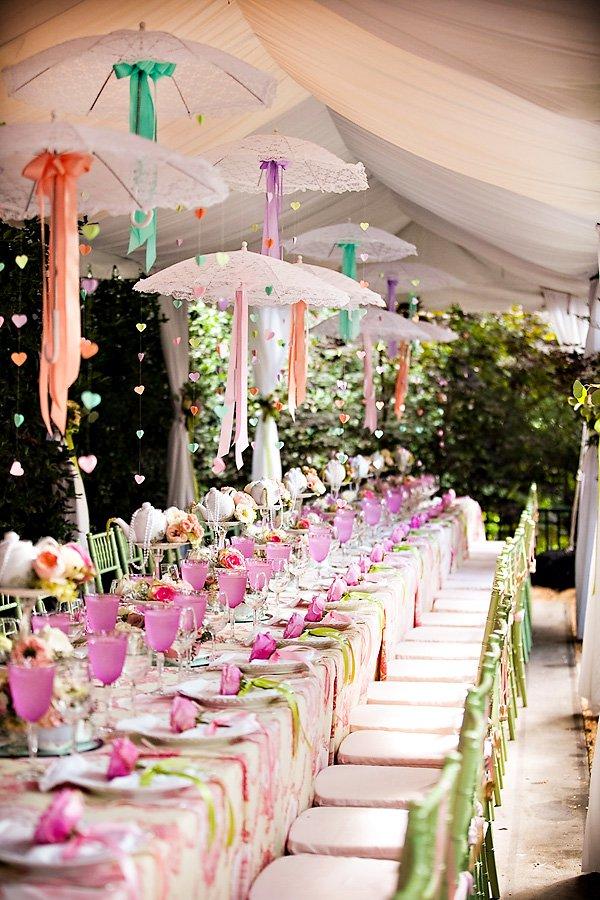 Outdoor Vintage Lace Tea Party Bridal Shower