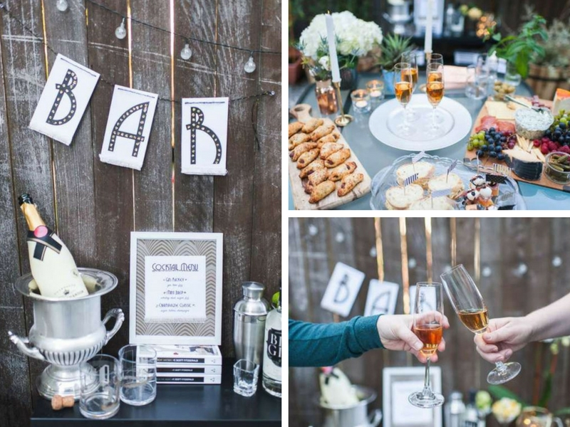 Outdoor Great Gatsby Party  Bridal Shower Ideas  Themes
