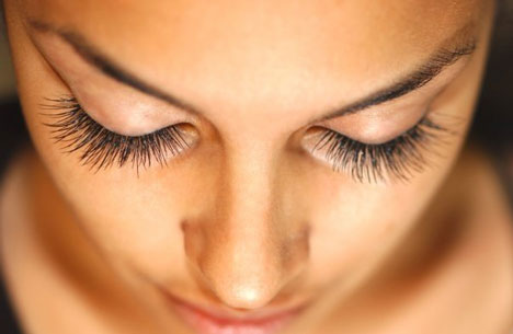 After eyelash extensions