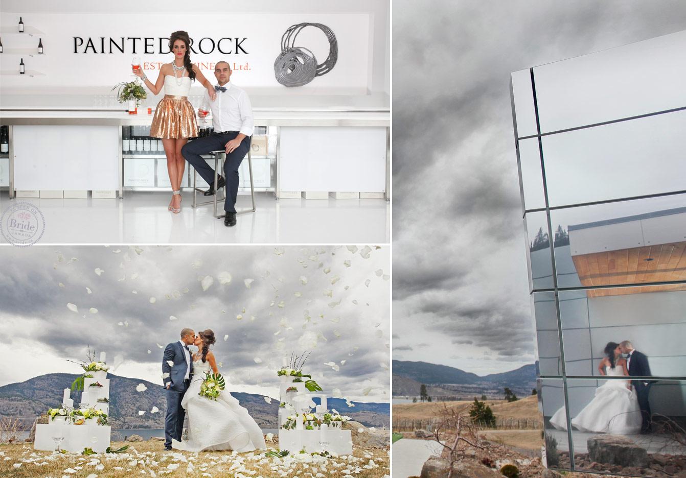 Brideca Painted Rock Winery A Modern Okanagan Wedding