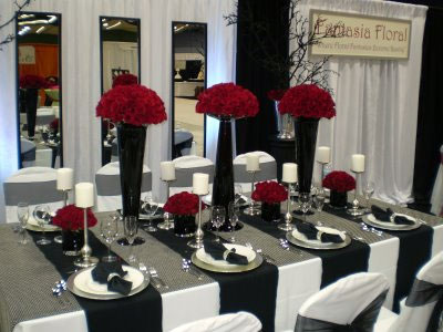 brideca  Themes A BlackandWhite Wedding