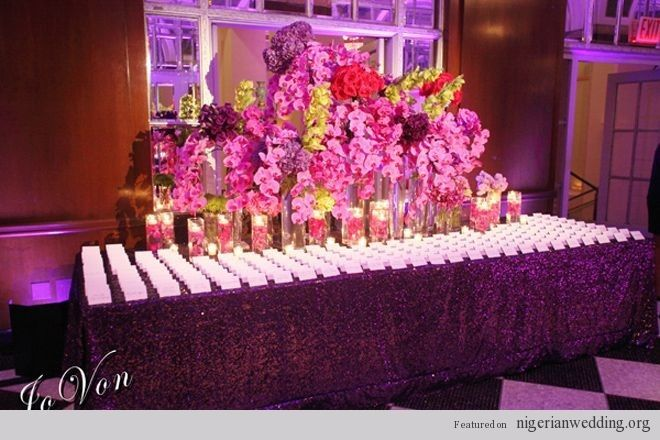 Nigerian Wedding Cards Table Fl Arrangements And