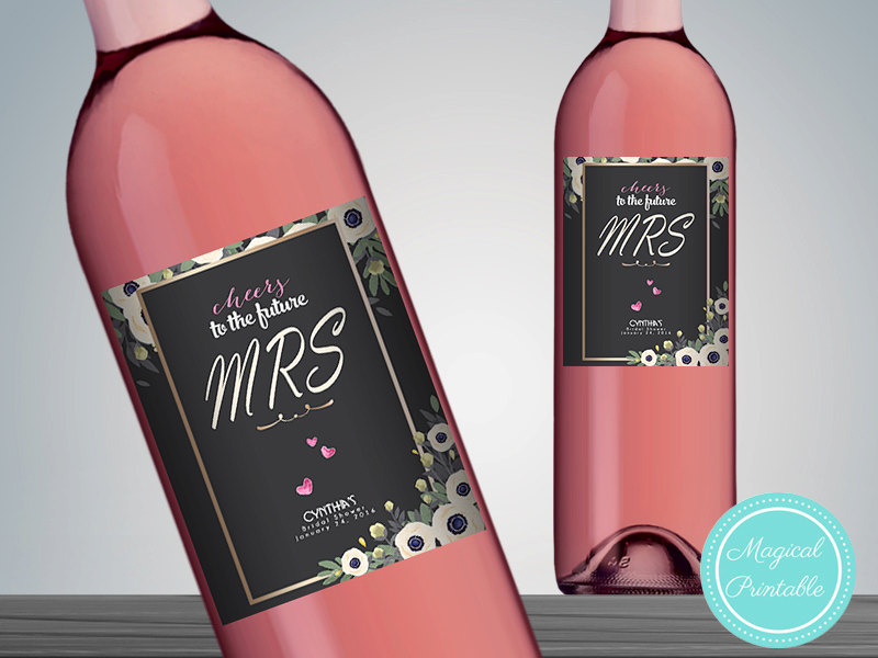 photo about Printable Wine Bottle Labels named Customized Sophisticated Wine Bottle Labels
