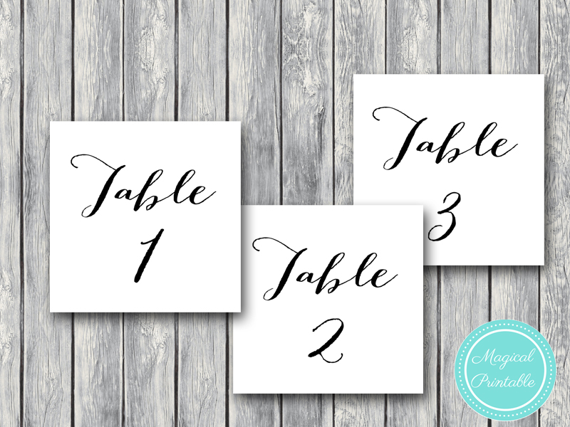 image relating to Table Number Printable referred to as Down load Stylish Wedding day Desk Figures