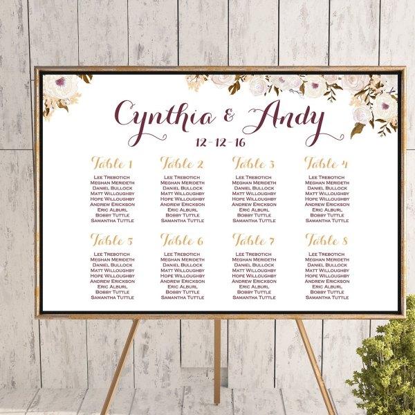 vintage floral wedding seating chart free wedding seating charts