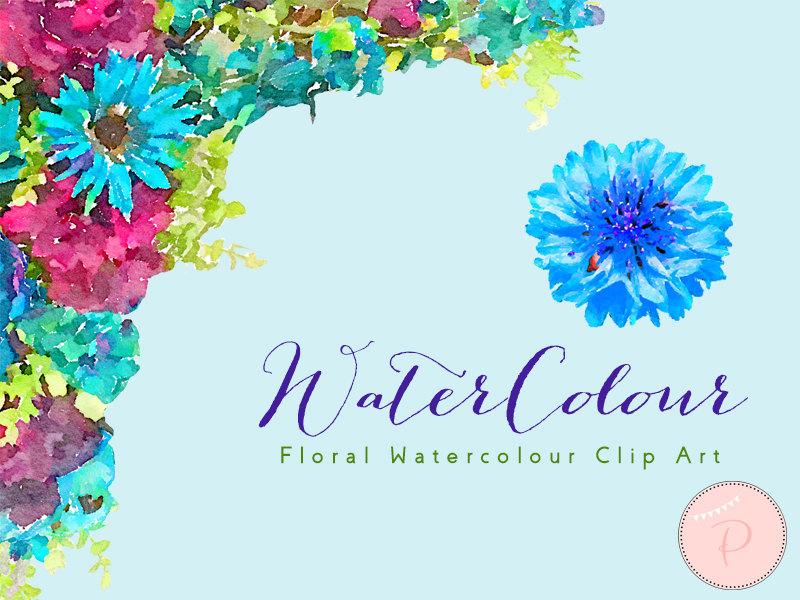 Blue Dahlias Watercolor Wca8 Bride Bows