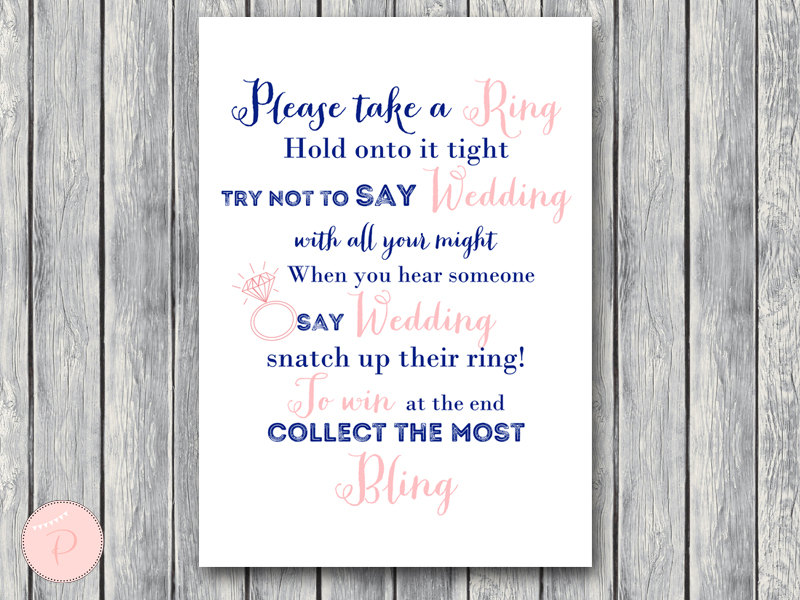 download pink and navy dont say bride or wedding game