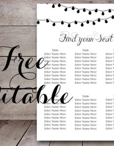 Free editable night lights wedding seating chart template also light printable bride bows rh brideandbows