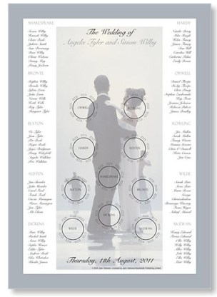 Dance me to the End of Love Wedding Table Plan