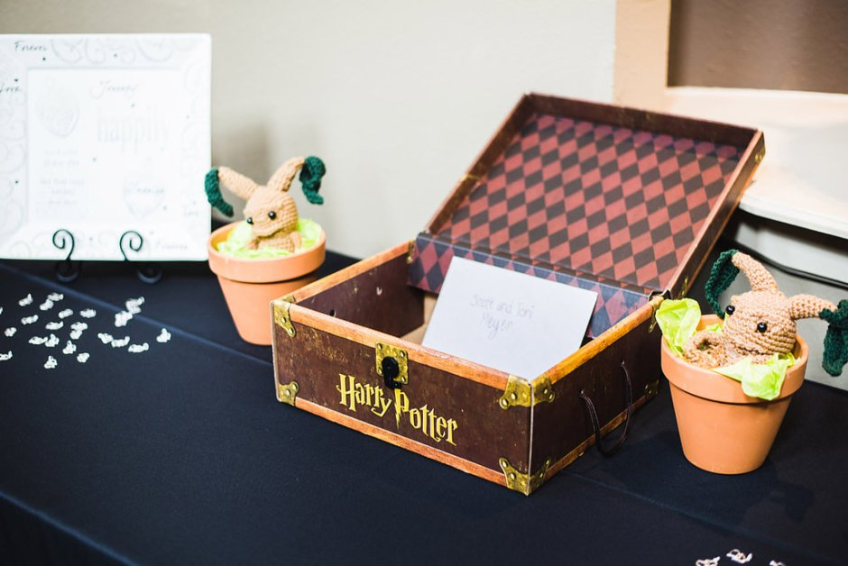 01 - Our Harry Potter card box and Mandrake