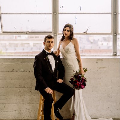 A Raw and Urban Colourful City Wedding // Styled Shoot