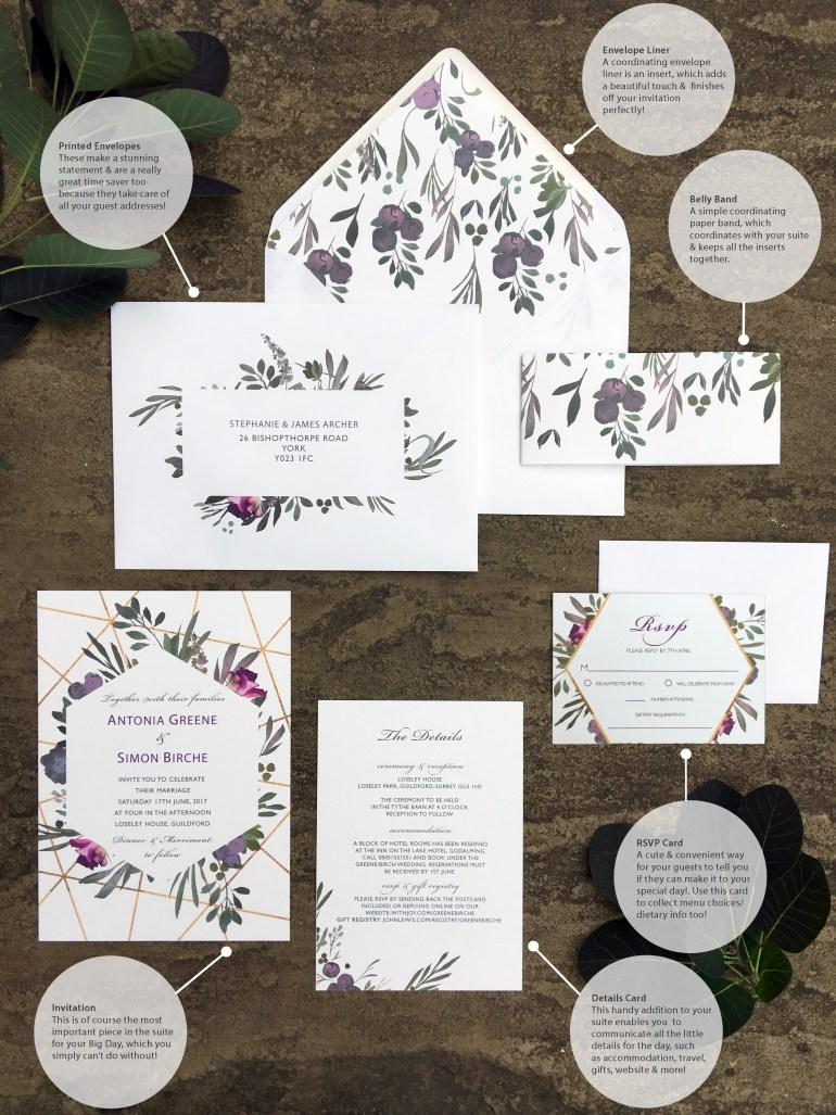 The Anatomy Of A Wedding Invitation Suite Brideandtonic