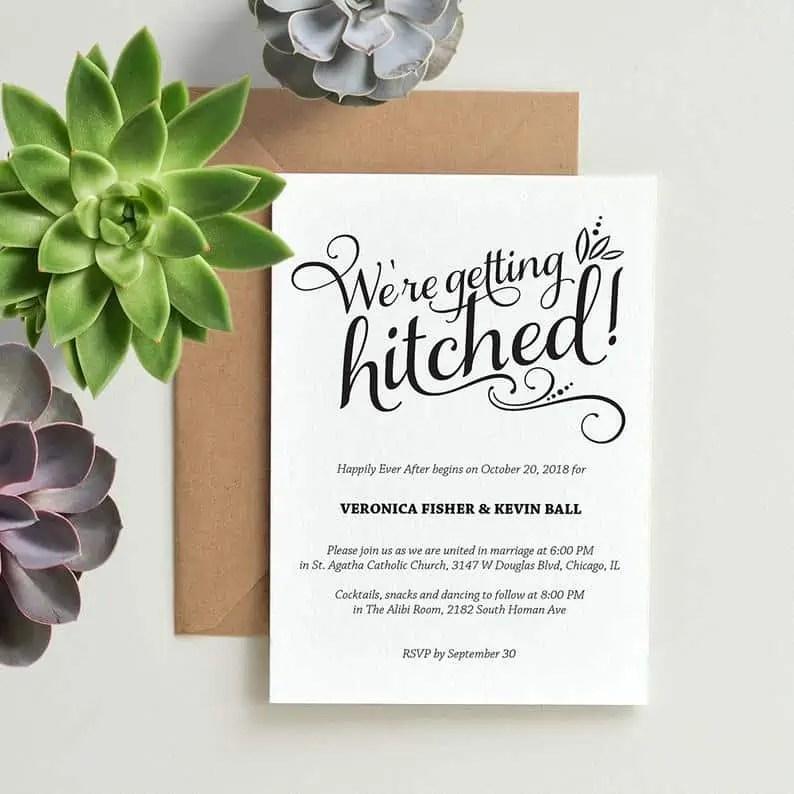funniest wedding invitation wording and