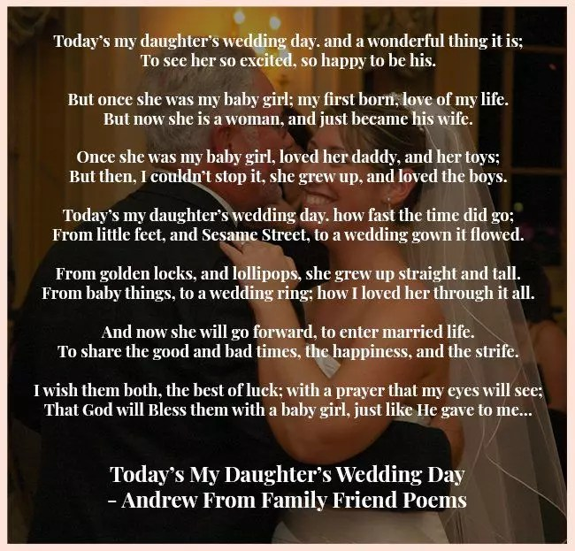 14 father daughter poems