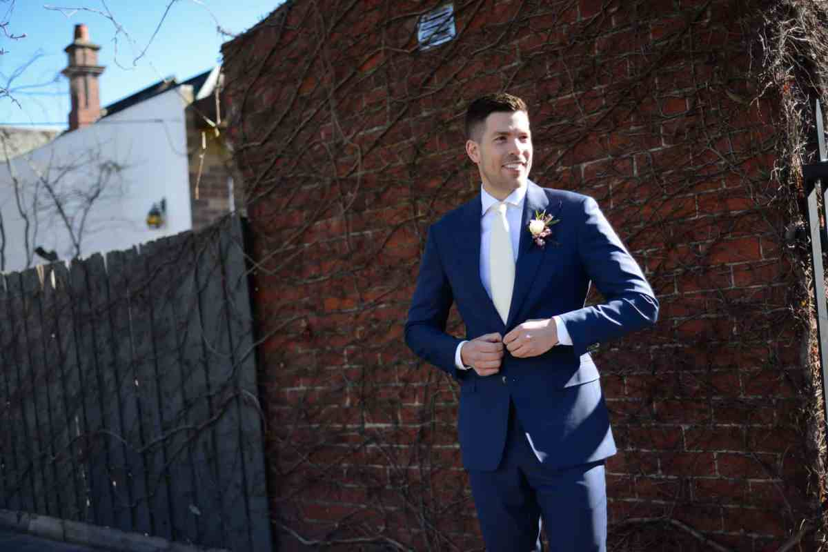 Emily Simms Melbourne Wedding Photos Groom