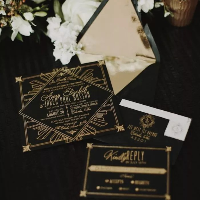 art deco invitations