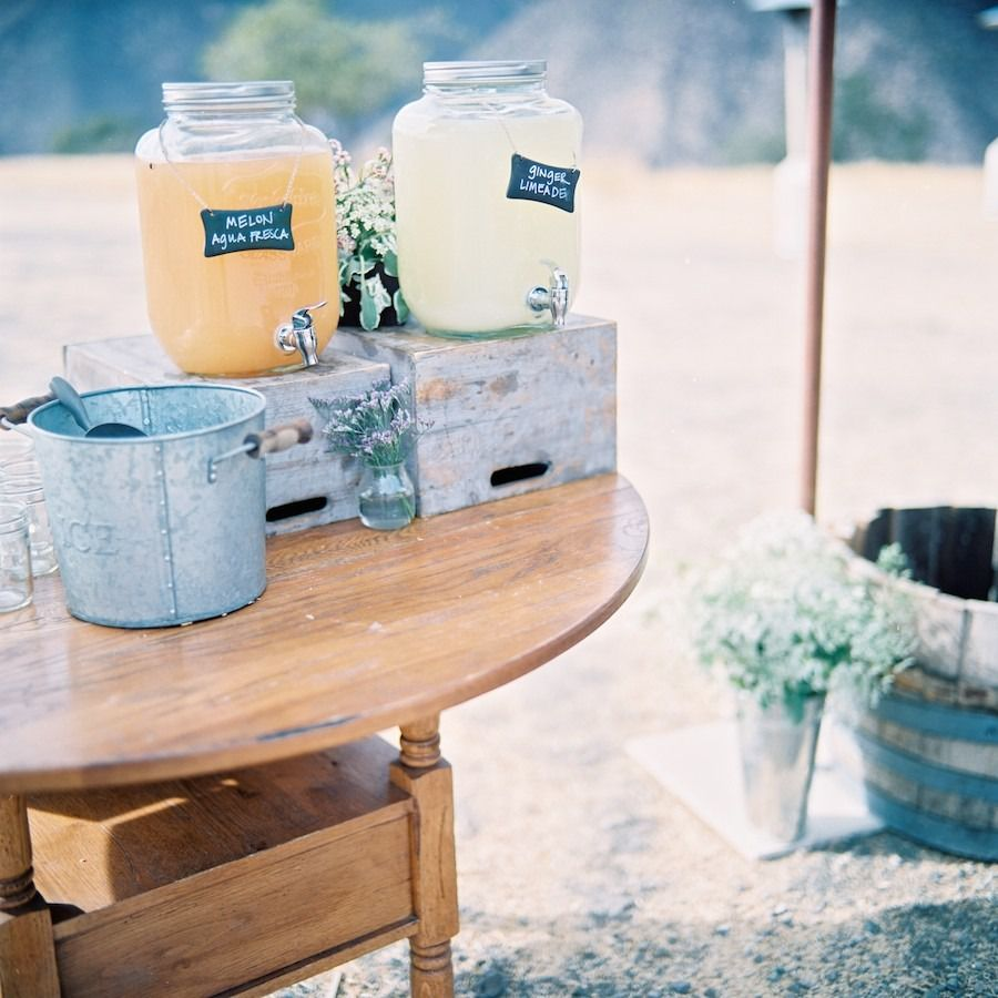 7 tasty pre ceremony drink and snack ideas