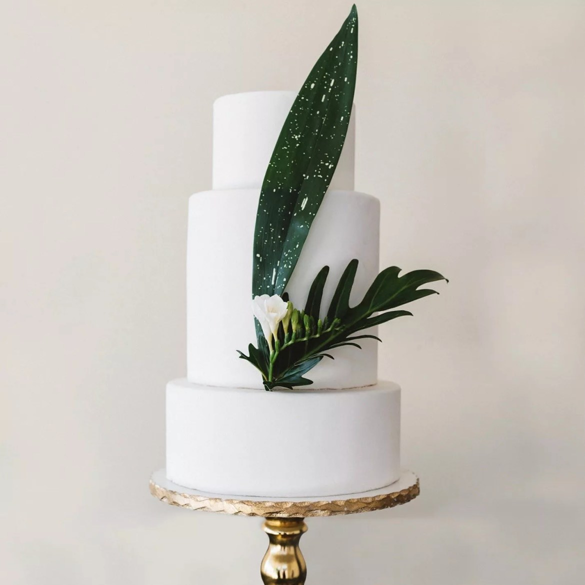 Cake with greenery