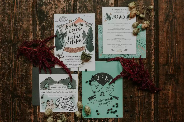 woodsy invitation