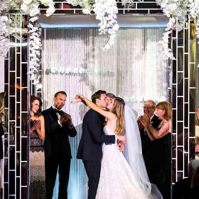 a black-tie wedding with killer new york city views