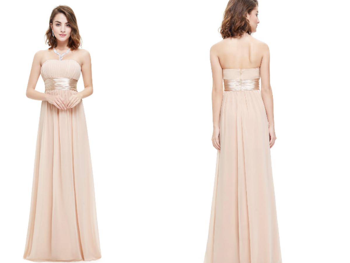Beige Chiffon Bridesmaid Dress 2017  Budget Bridesmaid UK