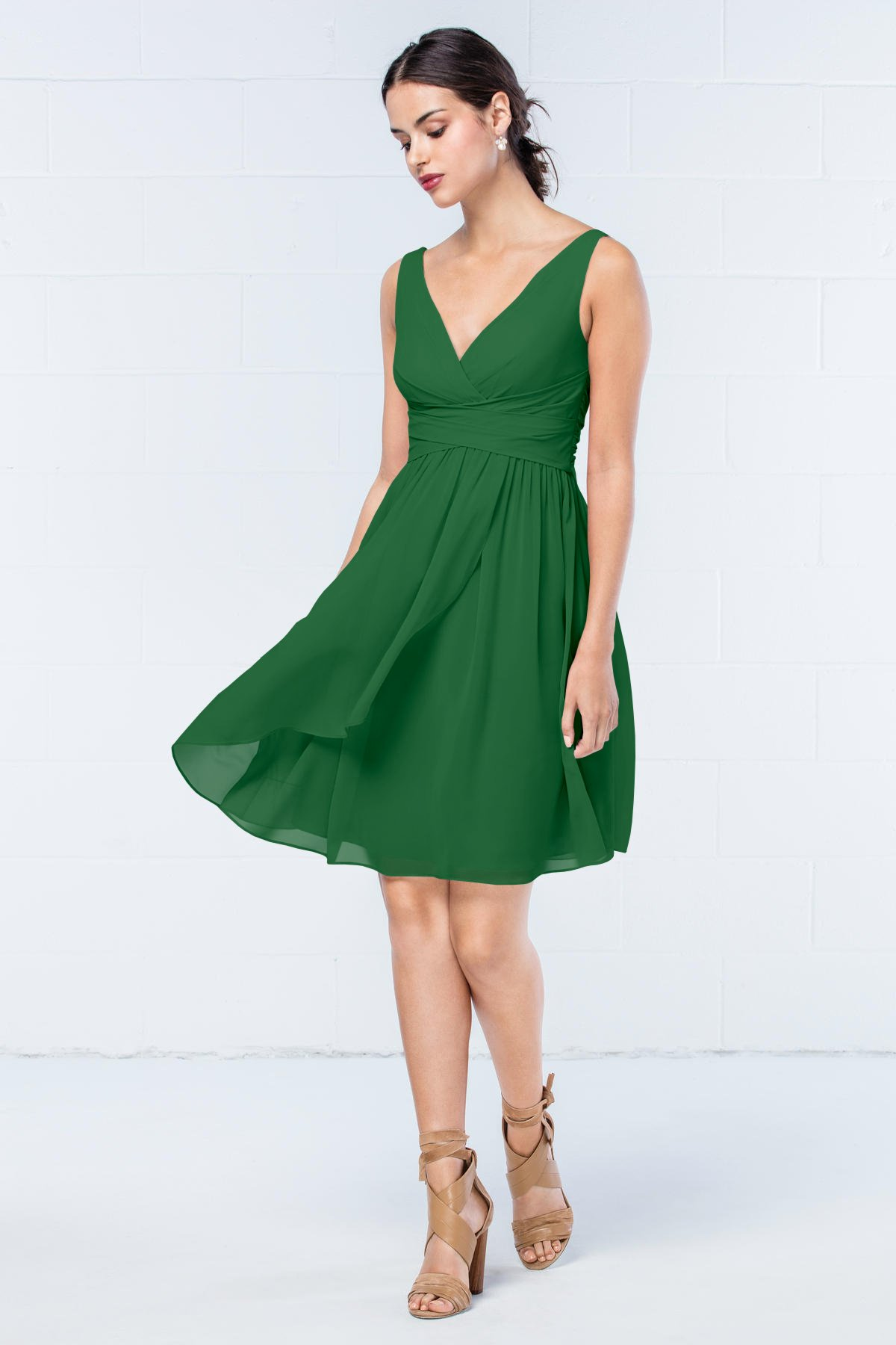 Short Emerald Green Summer Bridesmaid Dress  Budget