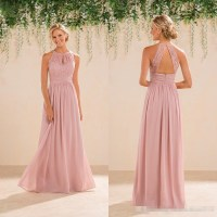 blush pink bridesmaid dresses full length  Budget ...