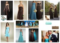 chocolate brown and tiffany blue bridesmaid dresses ...
