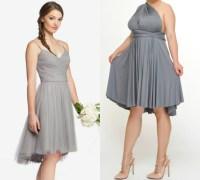 Short plus size gray bridesmaid dresses 2018  Budget ...