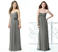 long charcoal gray bridesmaid dresses sweetheart  Budget ...