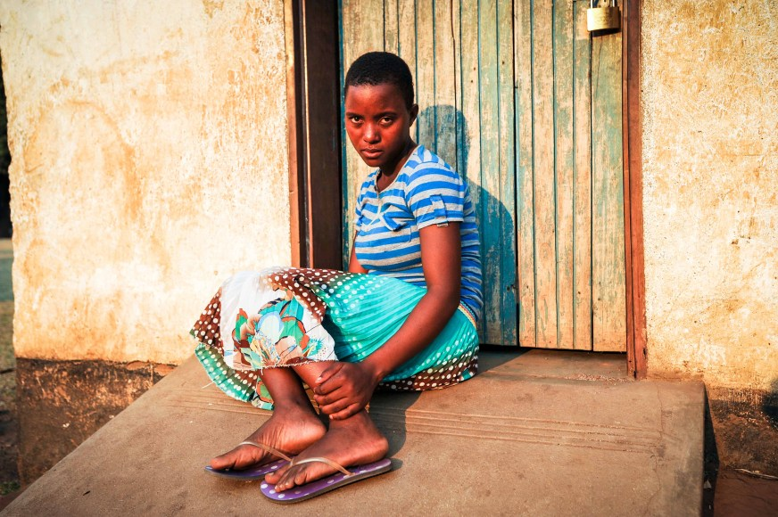 Lucy Anusa is 15 years old and was married at 14. She gave birth to a daughter earlier this year but has been abandoned by her husband. The youngest of three sisters, she now lives with her parents in Namalaka near the southern end of Lake Malawi.