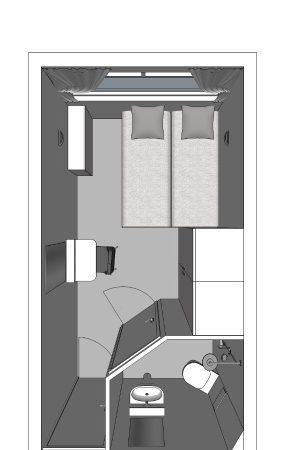 Plan type de la cabine MS France CroisiEurope
