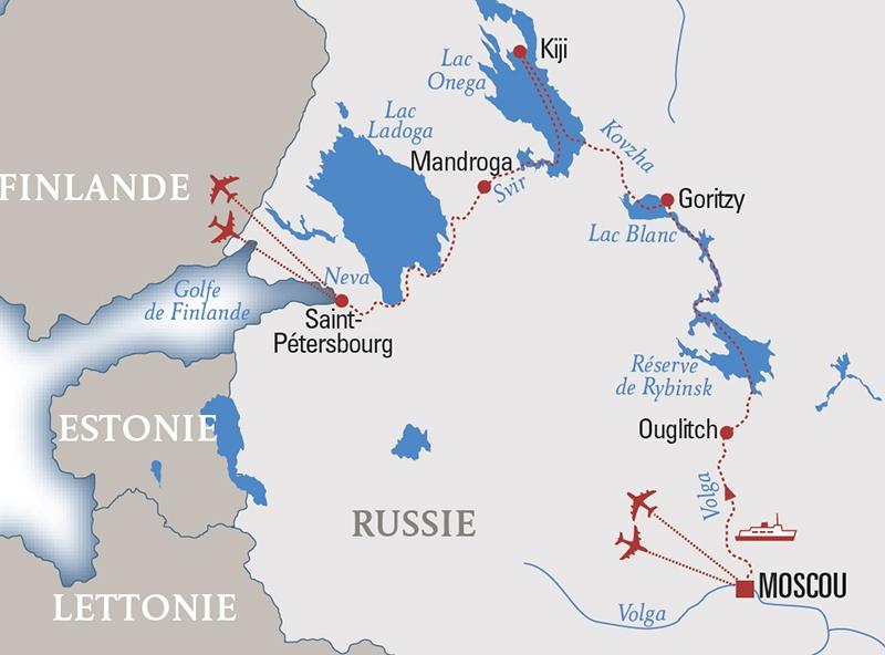 Parcours Croisière Bridge en Russie