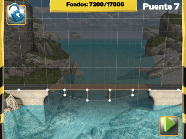 Picture of Bridge Constructor Walkthrough - Westlands - Bridge 7 Imagen Bridge Constructor Tutorial - Westlands - Puente 7