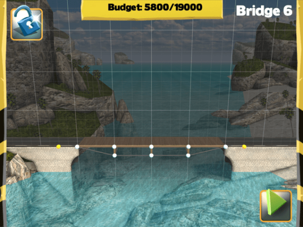 Picture of Bridge Constructor Walkthrough - Westlands - Bridge 6 Imagen Bridge Constructor Tutorial - Westlands - Puente 6