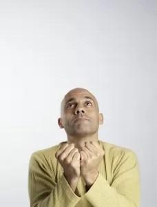man seeking inspiration