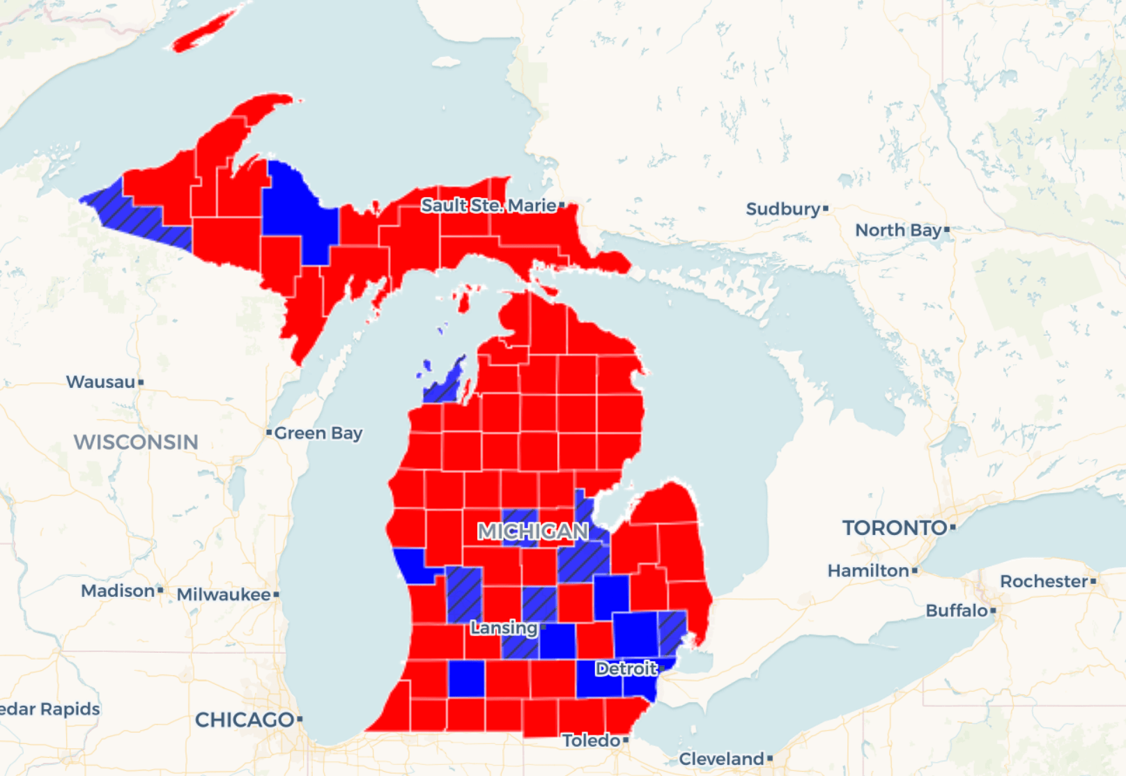 Map: See how Gretchen Whitmer rolled to victory in Michigan ...