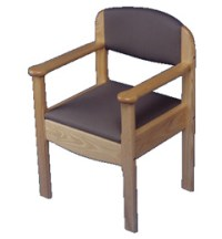 Royale Wooden Commode Chair with Pink Upholstery ...
