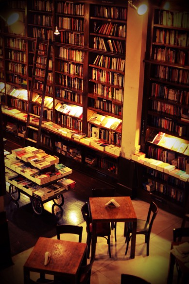 From the balcony at Libros del Pasaje