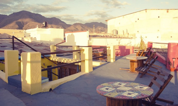 Rooftop of our hostel in Capilla del Monte