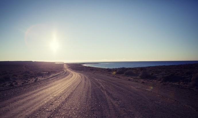 The coastal road to Puerto Piramides