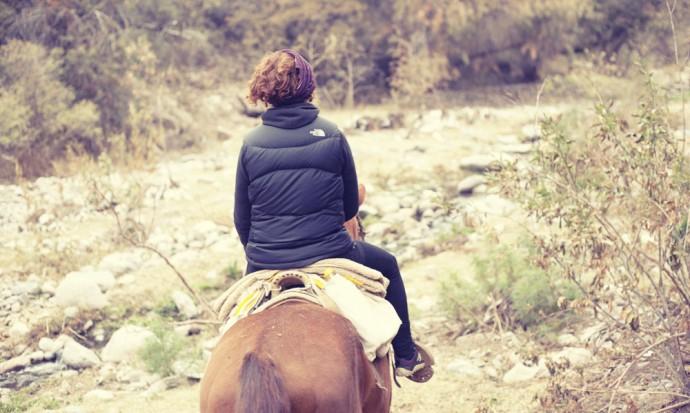 Victoria horseriding in Capilla del Monte