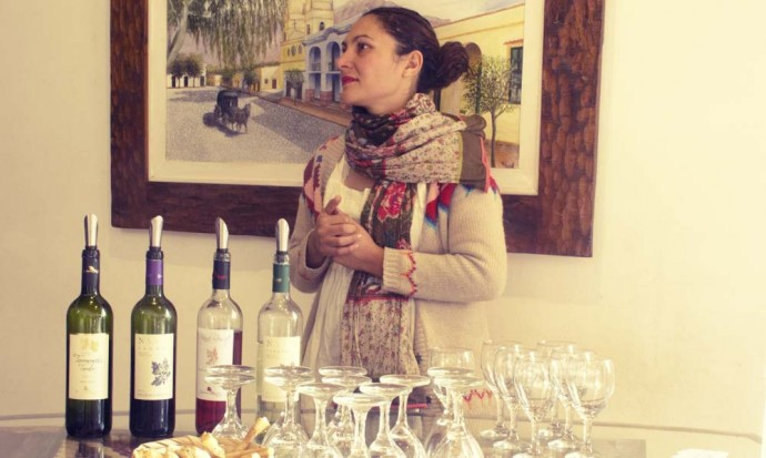 Wine tasting at Nanni in Cafayate wine town