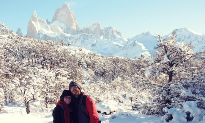 Victoria and Steve at Fitz Roy