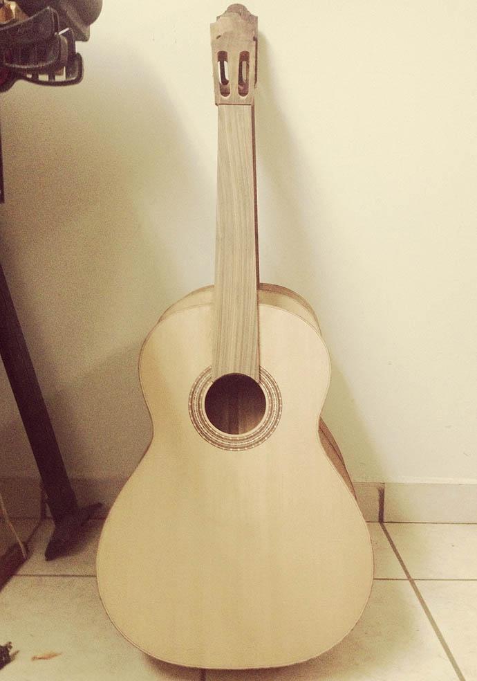 Guitar skeleton in Paracho