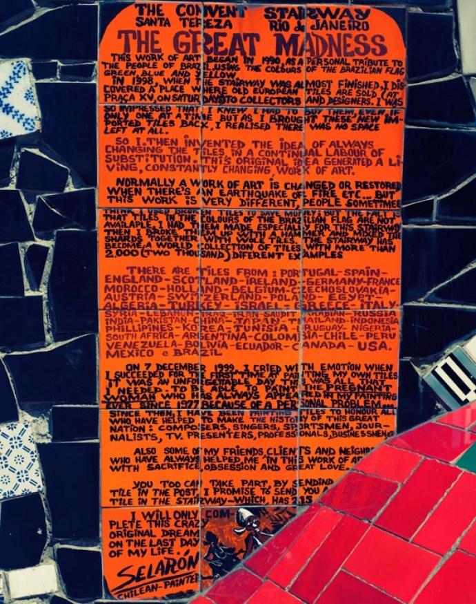Selaron description of his artwork