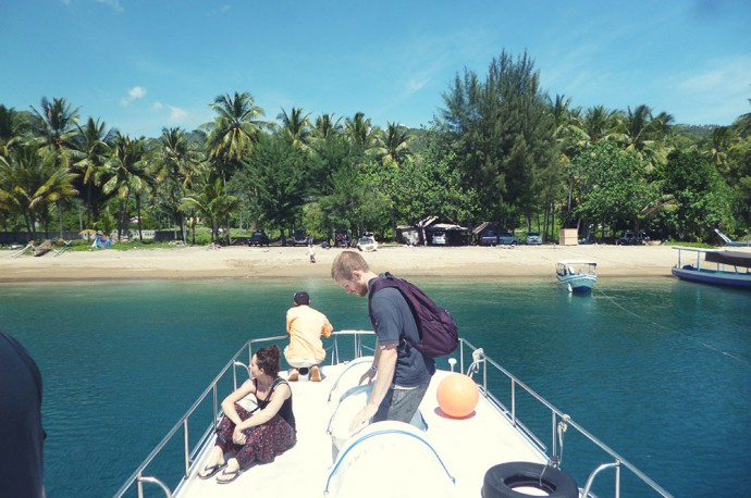 Arriving in Gili paradise