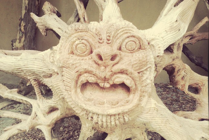 Angry mask face in Ubud